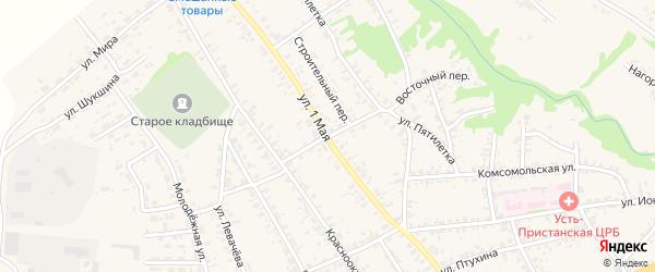 Восточный переулок на карте села Усть-Чарышской Пристани с номерами домов
