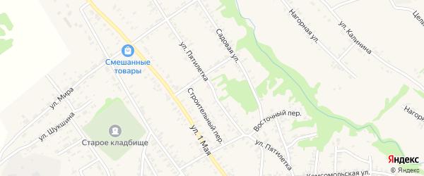 Улица Пятилетка на карте села Усть-Чарышской Пристани с номерами домов