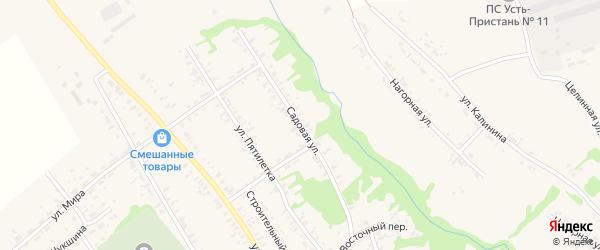 Садовая улица на карте села Усть-Чарышской Пристани с номерами домов
