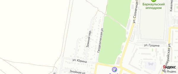 Зимний переулок на карте Барнаула с номерами домов