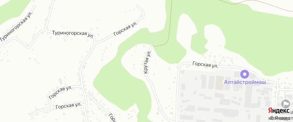 Крутая улица на карте Барнаула с номерами домов