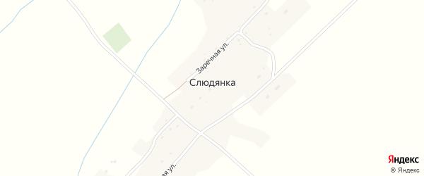 Заречная улица на карте села Слюдянки с номерами домов