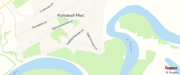 Цветочная улица на карте села Колового Мыса с номерами домов