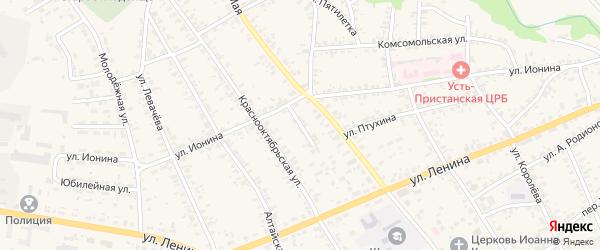 Улица 60 лет Октября на карте села Усть-Чарышской Пристани с номерами домов