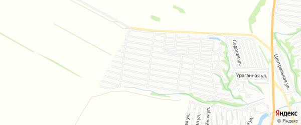 Карта садового некоммерческого товарищества Росинки города Барнаула в Алтайском крае с улицами и номерами домов