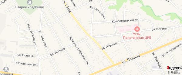 1 Мая улица на карте села Усть-Чарышской Пристани с номерами домов