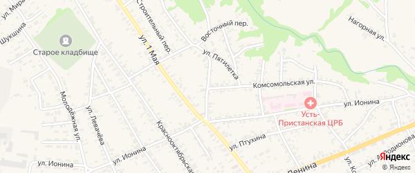 Инкубаторный переулок на карте села Усть-Чарышской Пристани с номерами домов