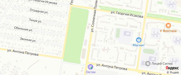 Улица Солнечная Поляна на карте Барнаула с номерами домов