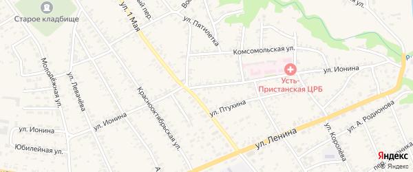 Улица Ионина на карте села Усть-Чарышской Пристани с номерами домов