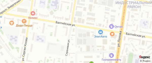 Балтийский 1-й проезд на карте Барнаула с номерами домов