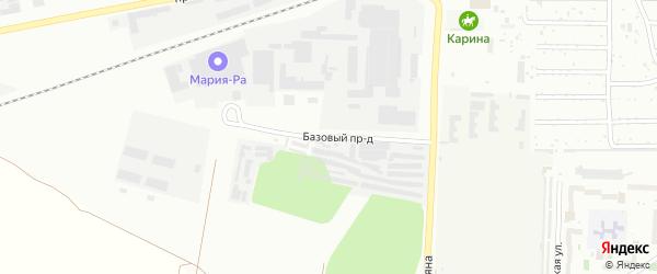 Базовый проезд на карте Барнаула с номерами домов