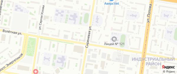 Сиреневая улица на карте садового некоммерческого товарищества Медика с номерами домов