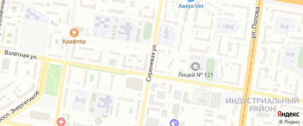 Сиреневая улица на карте садового некоммерческого товарищества Полета с номерами домов