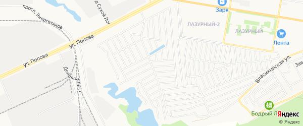 Карта садового некоммерческого товарищества Дружбы города Барнаула в Алтайском крае с улицами и номерами домов