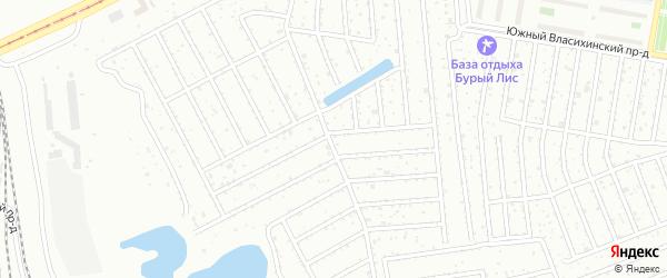 1-й квартал на карте садового некоммерческого товарищества Дружбы с номерами домов