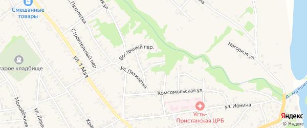 Речной переулок на карте села Усть-Чарышской Пристани с номерами домов