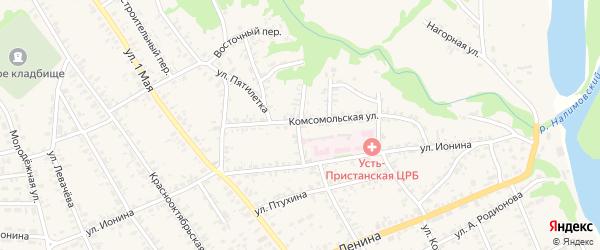 Самарский переулок на карте села Усть-Чарышской Пристани с номерами домов