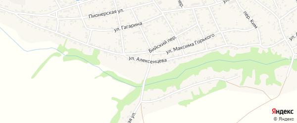 Улица Алексенцева на карте села Усть-Чарышской Пристани с номерами домов