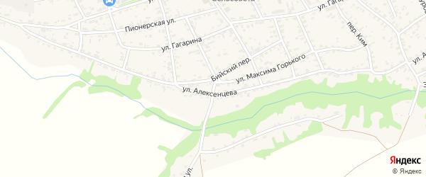 Кооперативный переулок на карте села Усть-Чарышской Пристани с номерами домов