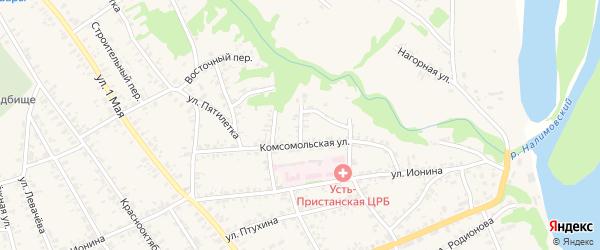 Уральский переулок на карте села Усть-Чарышской Пристани с номерами домов
