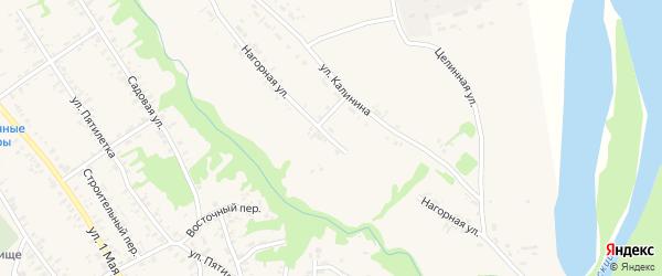 Нагорная улица на карте села Усть-Чарышской Пристани с номерами домов