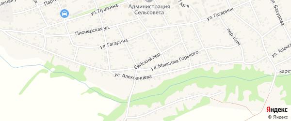 Бийский переулок на карте села Усть-Чарышской Пристани с номерами домов