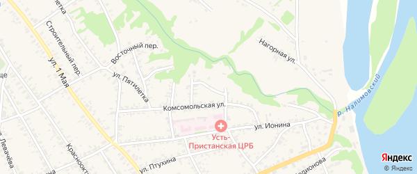 Кривой переулок на карте села Усть-Чарышской Пристани с номерами домов