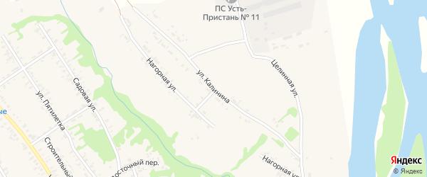 Улица Калинина на карте села Усть-Чарышской Пристани с номерами домов