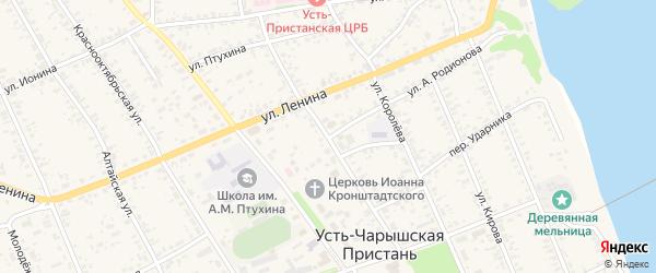 Советская улица на карте села Усть-Чарышской Пристани с номерами домов