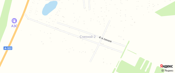 2-я линия на карте территории сдт Степноя-2 с номерами домов