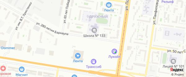 Улица 280-летия Барнаула на карте Барнаула с номерами домов