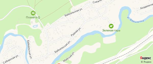 Байкальская улица на карте поселка Борзовой Заимки с номерами домов