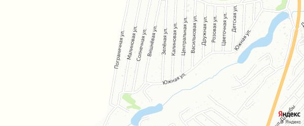 Малиновая улица на карте садового некоммерческого товарищества Сельского строителя с номерами домов