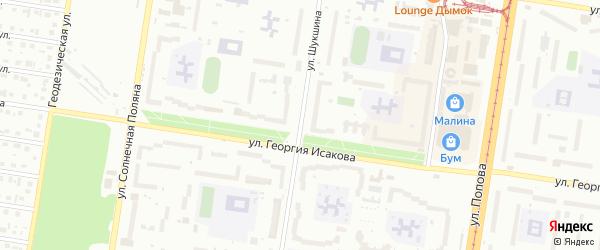 Улица Шукшина на карте Барнаула с номерами домов