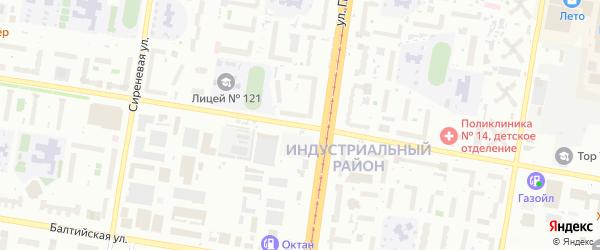 Взлетная улица на карте Барнаула с номерами домов
