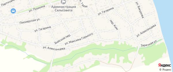 Улица М.Горького на карте села Усть-Чарышской Пристани с номерами домов