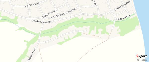 Заречная улица на карте села Усть-Чарышской Пристани с номерами домов