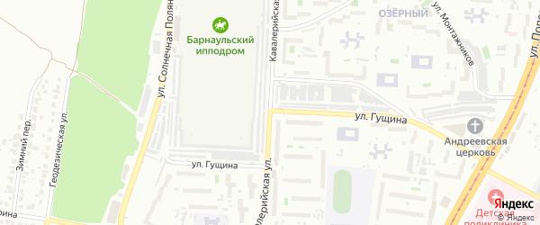 Кавалерийская улица на карте Барнаула с номерами домов