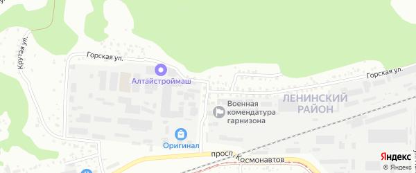 Горская улица на карте Барнаула с номерами домов