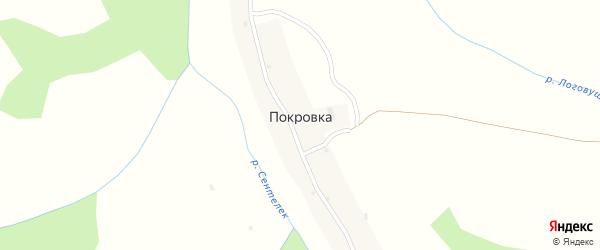 Речной переулок на карте села Покровки с номерами домов