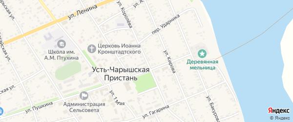 Улица Королева на карте села Усть-Чарышской Пристани с номерами домов