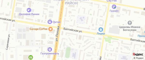 Балтийская улица на карте Барнаула с номерами домов