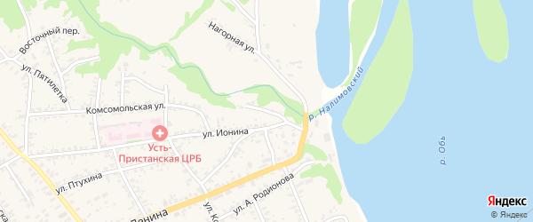 Привокзальный переулок на карте села Усть-Чарышской Пристани с номерами домов