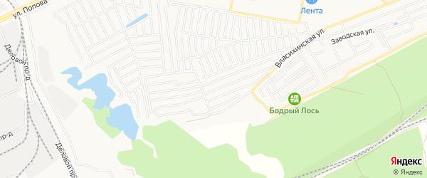 Карта садового некоммерческого товарищества Фиалки города Барнаула в Алтайском крае с улицами и номерами домов