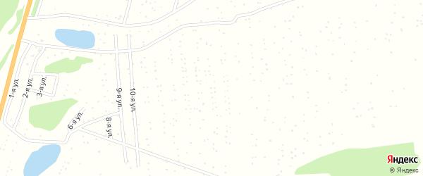 13-я улица на карте садового некоммерческого товарищества Меланжиста с номерами домов