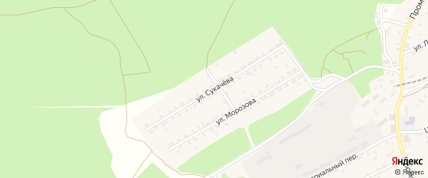 Улица Сукачева на карте станции Озерки с номерами домов