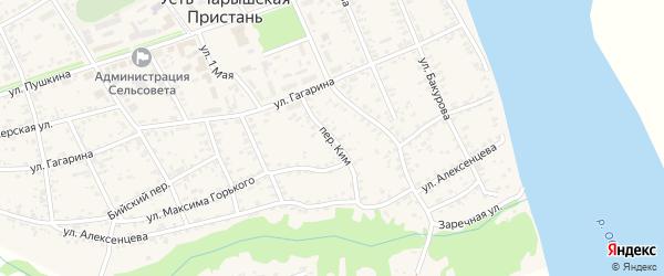 Переулок Ким на карте села Усть-Чарышской Пристани с номерами домов