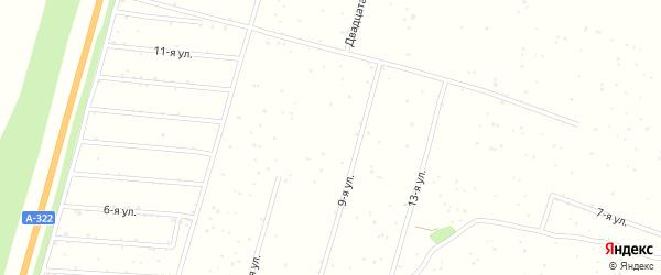 8-я улица на карте садового некоммерческого товарищества Калинки с номерами домов
