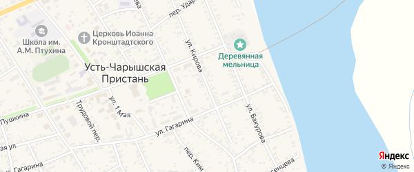 Улица Кирова на карте села Усть-Чарышской Пристани с номерами домов