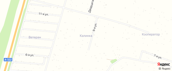 2-я улица на карте садового некоммерческого товарищества Калинки с номерами домов